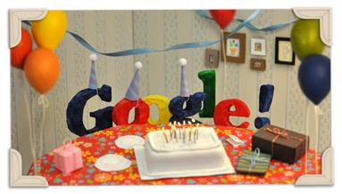 جوجل يحتفل بذكرى تأسيسه البهجة والسرور google
