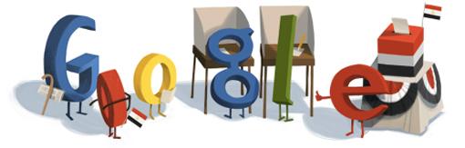 Google Logo: Egypt presidential elections 2012